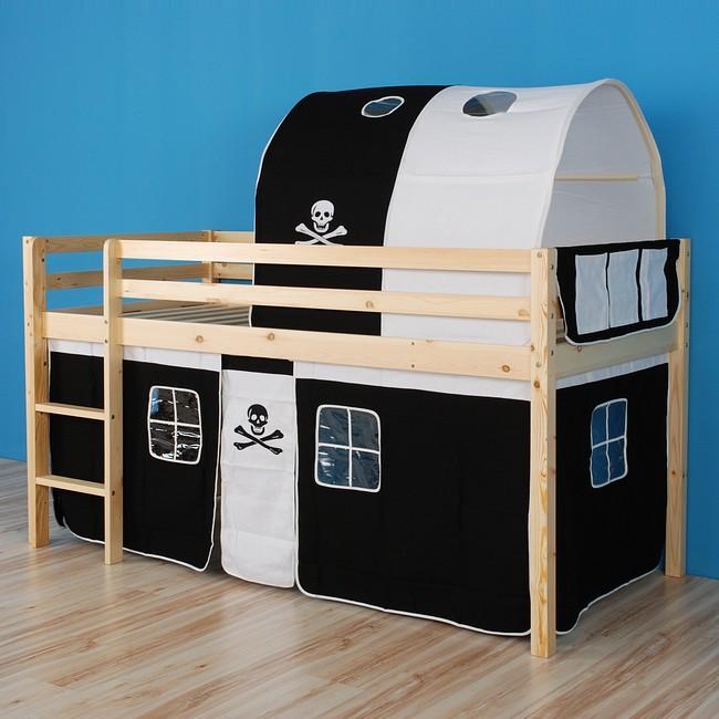 hochbett spielbett kinderbett abenteuerbett lattenrost. Black Bedroom Furniture Sets. Home Design Ideas