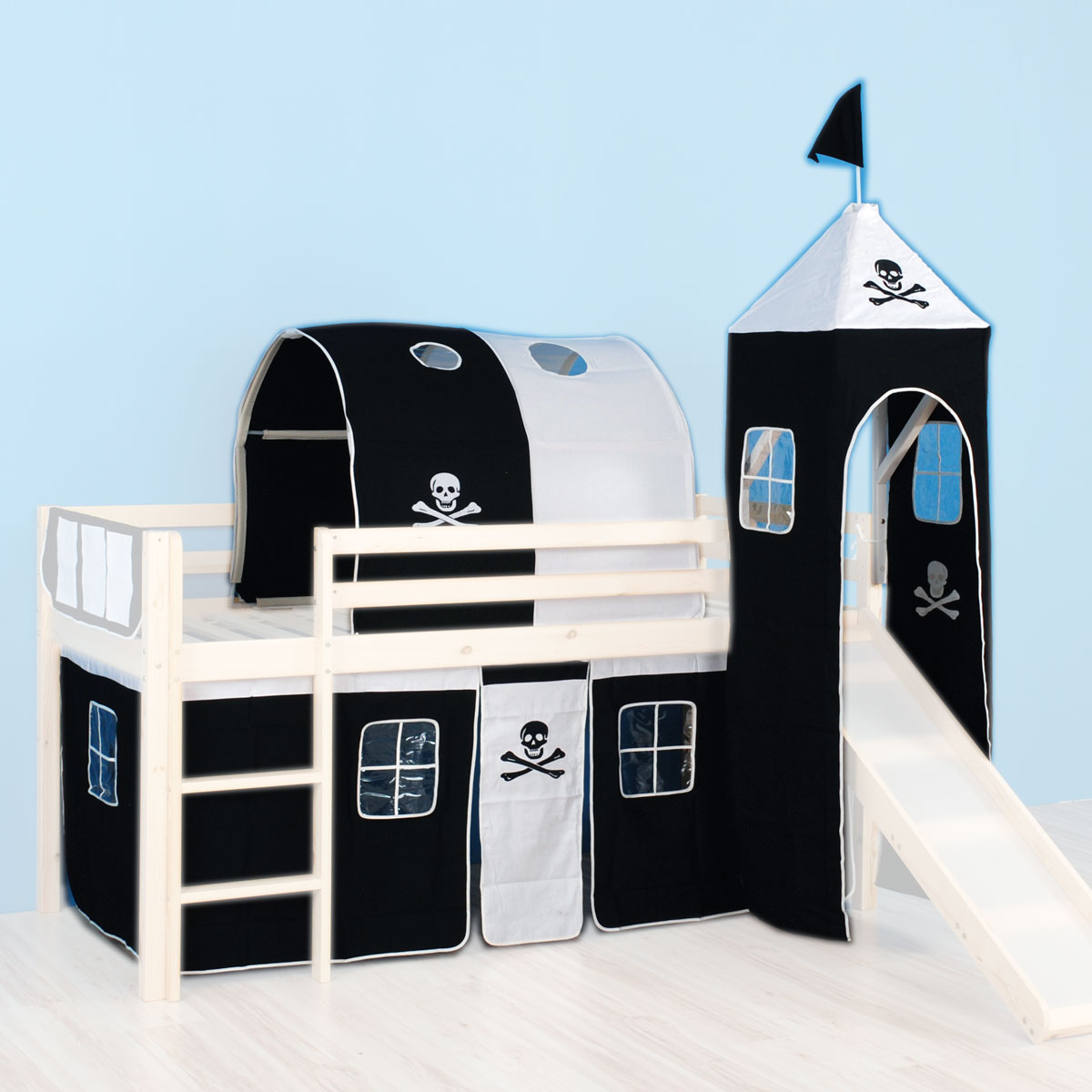 stoffset jack incl turm und tunnel f r hochbett spielbett rutschenbett ebay. Black Bedroom Furniture Sets. Home Design Ideas