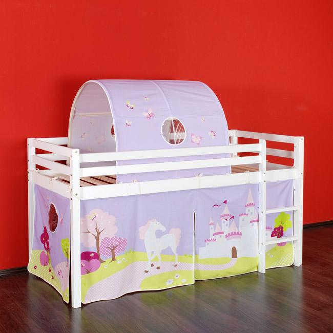 tunnel prinzessinnen land motiv mit pferd f r hochbett. Black Bedroom Furniture Sets. Home Design Ideas